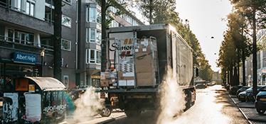 Transport met laad- en losmogelijkheden